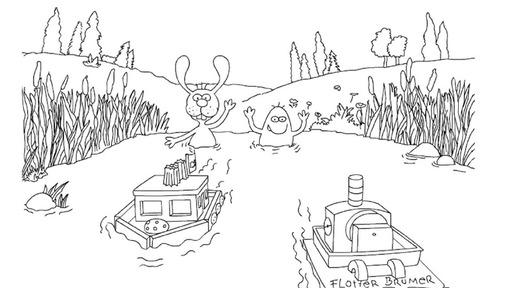 Nulli und Priesemut mit Booten - Die Sendung mit der Maus ...