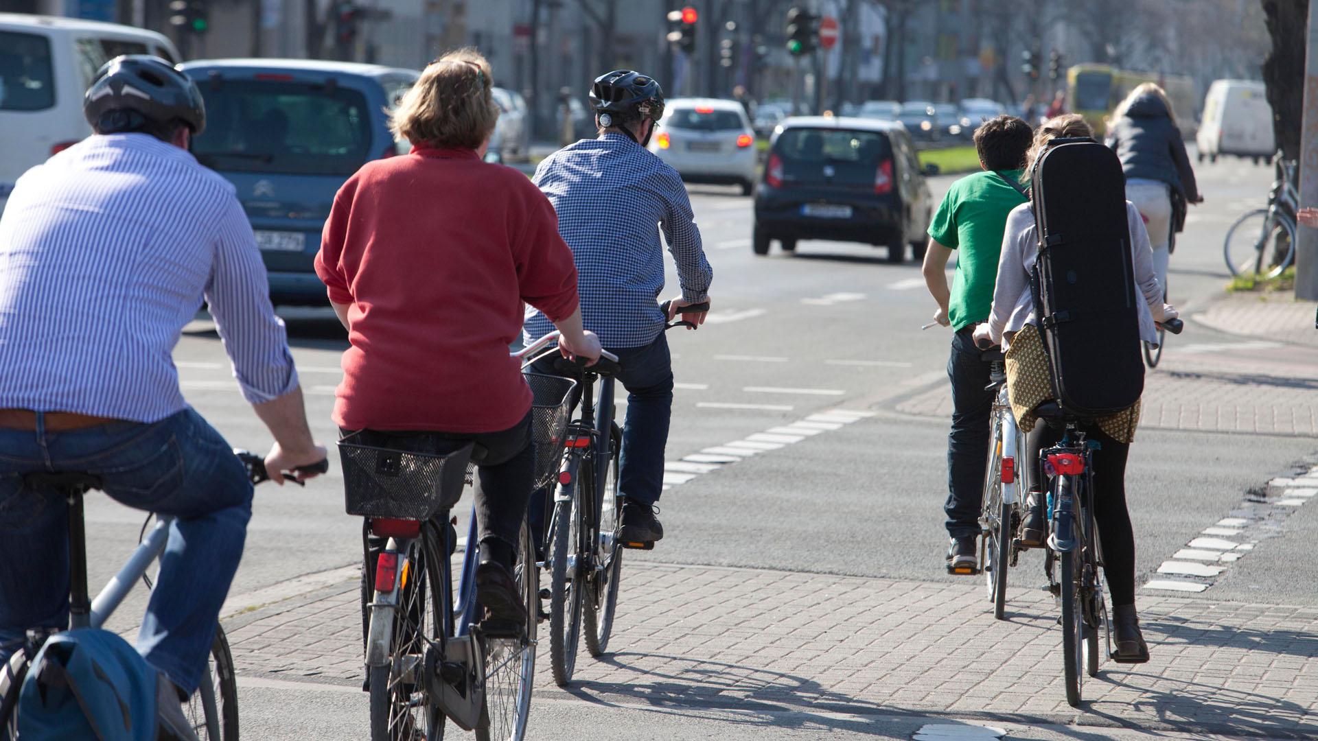Fahrradfahren im Stadtgebiet