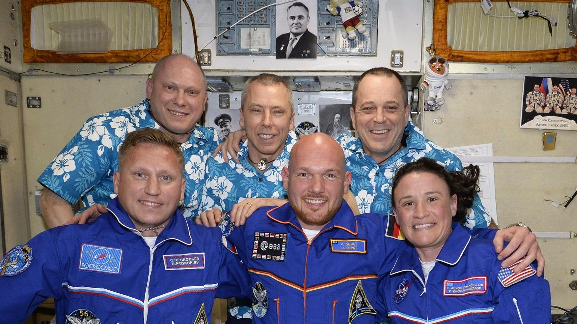 Die Crew der ISS