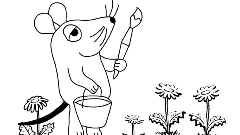 Maus malt Blumen - Die Seite mit der Maus - WDR