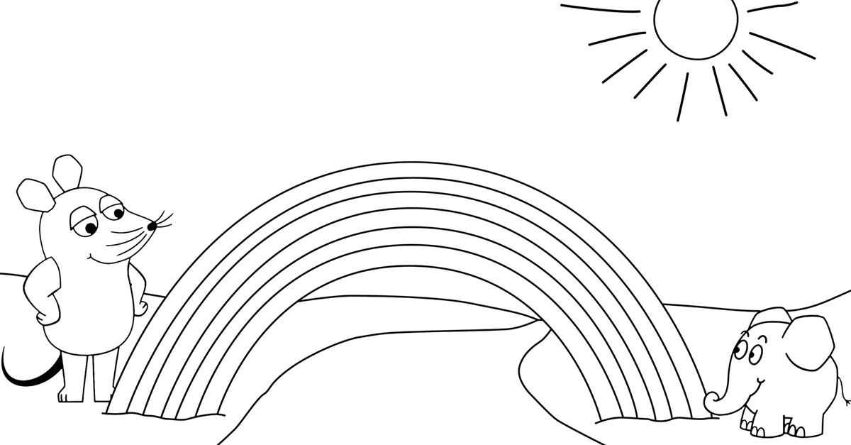 ausmalbilder regenbogen pdf  kinder ausmalbilder